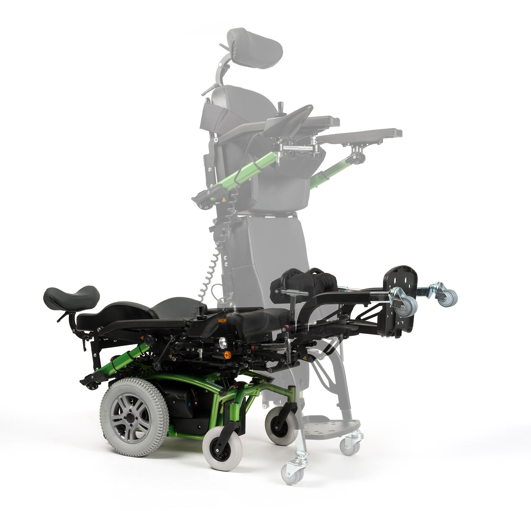 Wózek z napędem elektrycznym pokojowo terenowy z funkcją pionizacji FOREST 3 SU