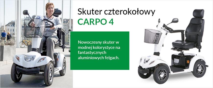 baner przedstawiający skuter czterokolowy 17 km-h