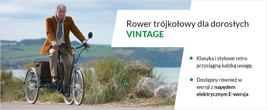 baner przedstawiający rower rehabilitacyjny trojkolowy dla doroslych
